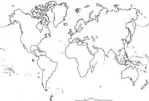 mapamundi oceanos y continentes, mapamundi para imprimir blanco y negro