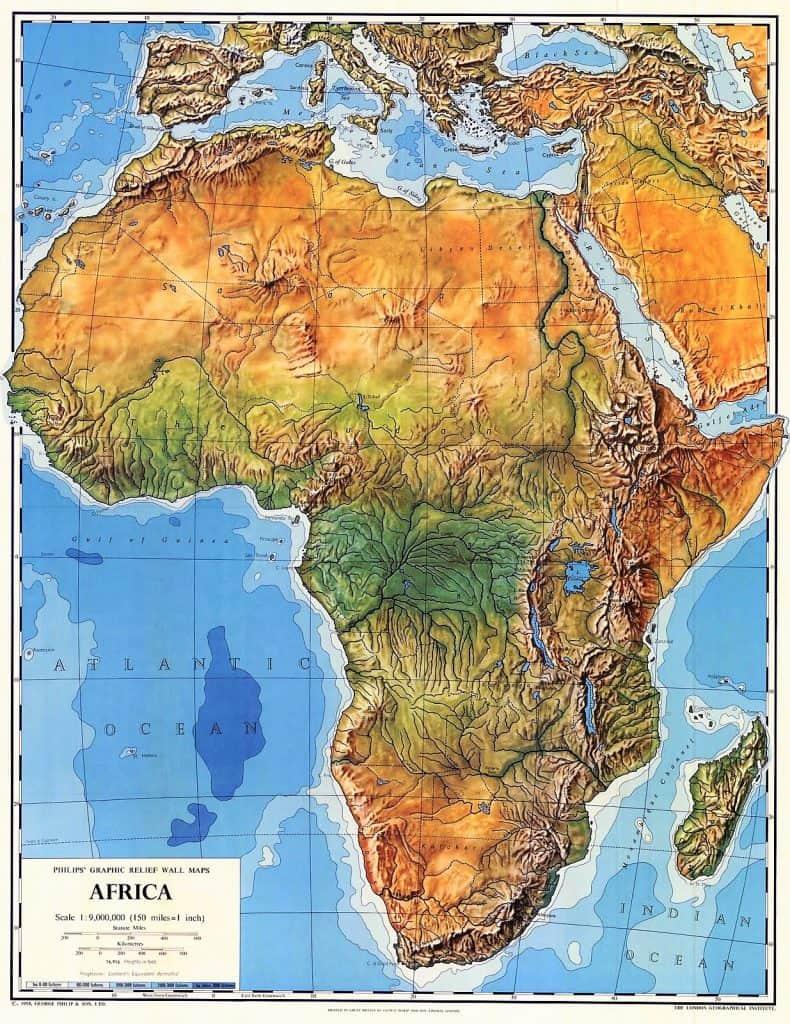 Mapa De Africa Politico Y Fisico Para Imprimir Paises 2020