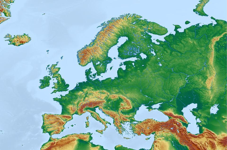 Mapa Fisico Europa Mudo.Mapas Politicos Y Fisicos De Europa Para Imprimir 2019