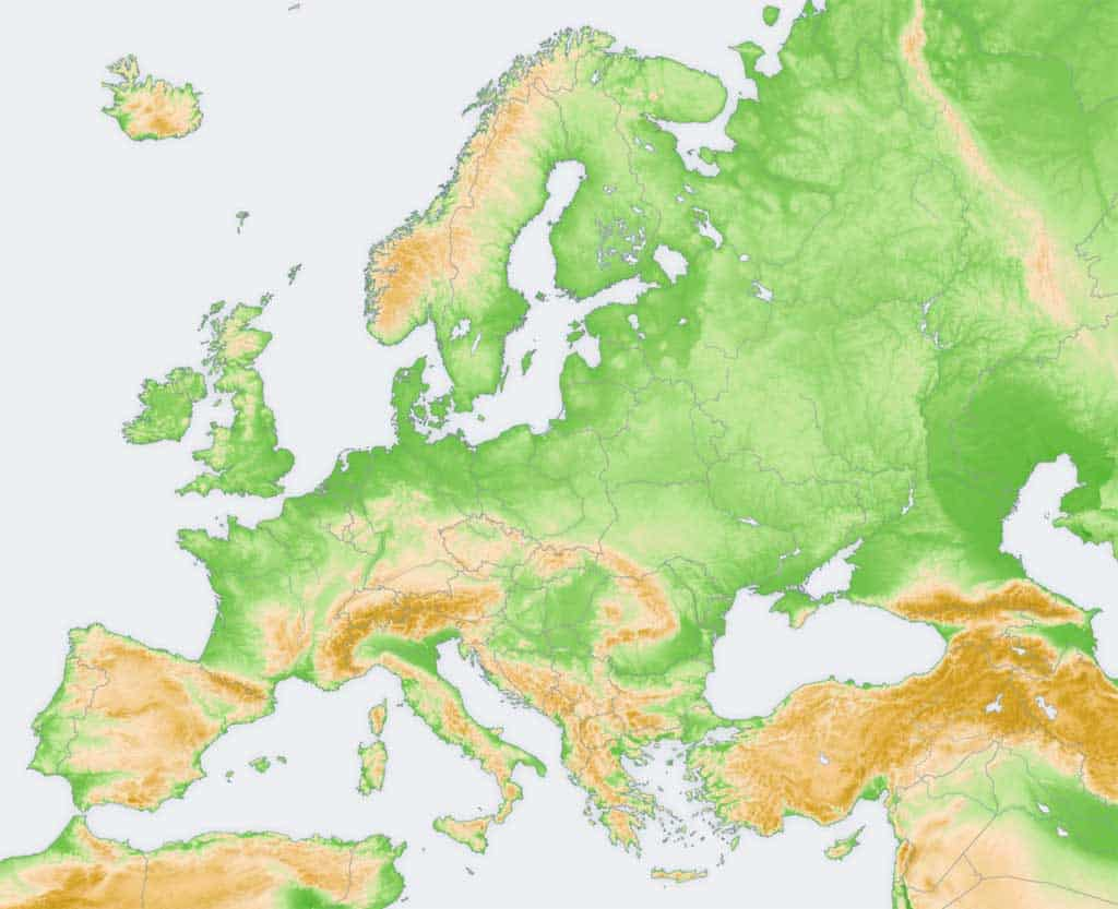 Mapa Mut D Europa.Mapas Politicos Y Fisicos De Europa Para Imprimir 2020