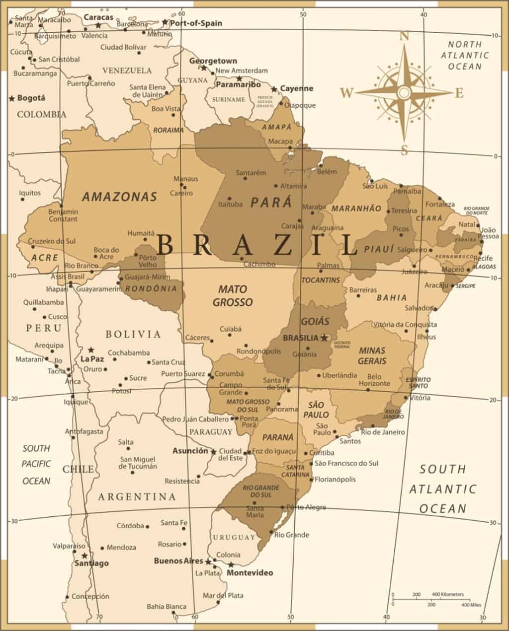Mapa de provincias de Brasil