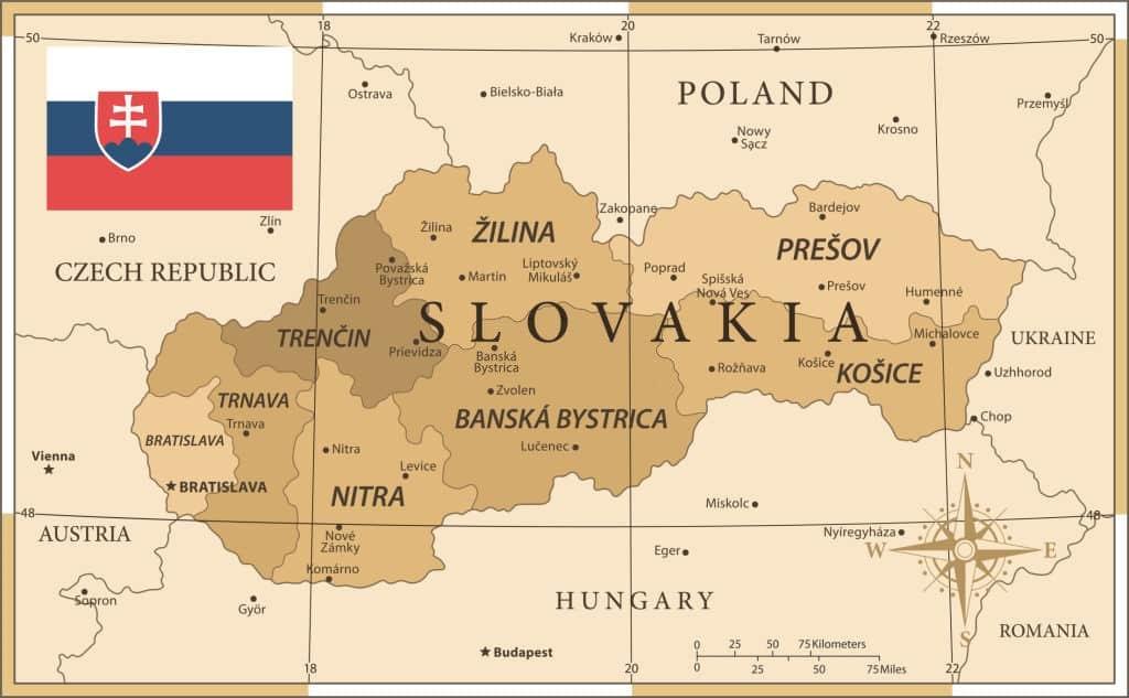 Eslovaquia parte de la antigua Checoslovaquia