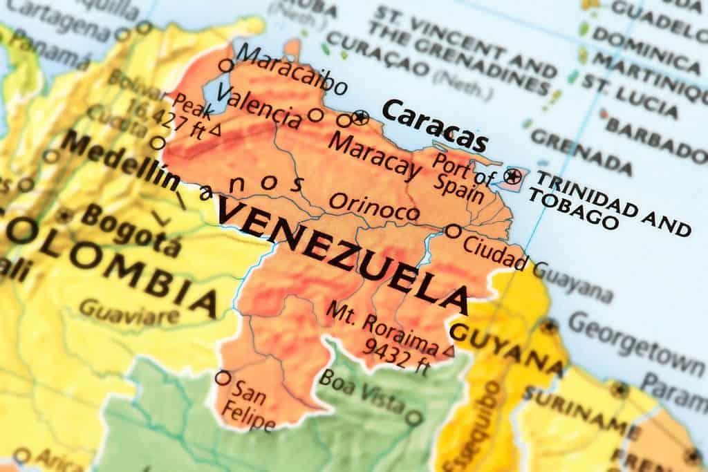 mapa de venezuela y colombia