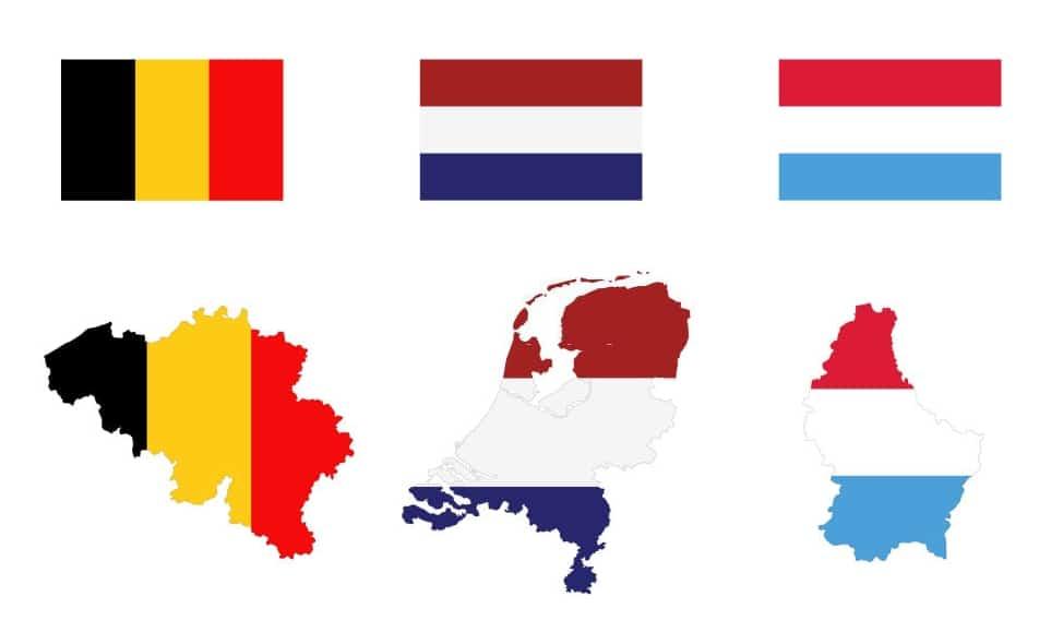 Contornos de Bélgica, Holanda y Luxemburgo