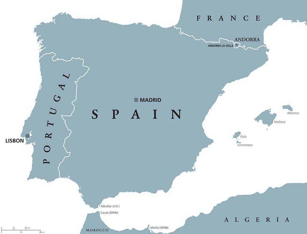 Ubicación geográfica de Andorra entre España y Francia