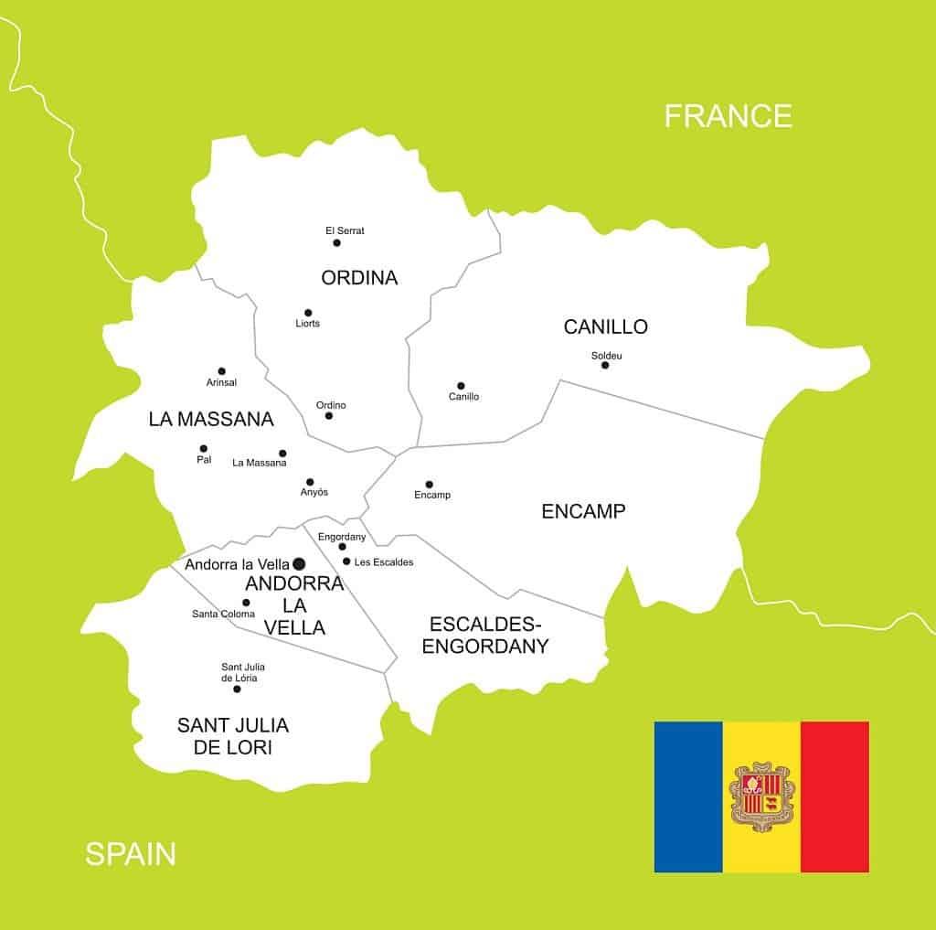 Mapa político Andorra