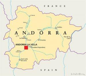 Mapa hidrográfica de Andorra