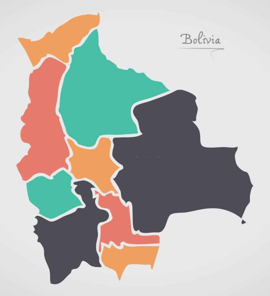 Mapa mudo de Bolivia