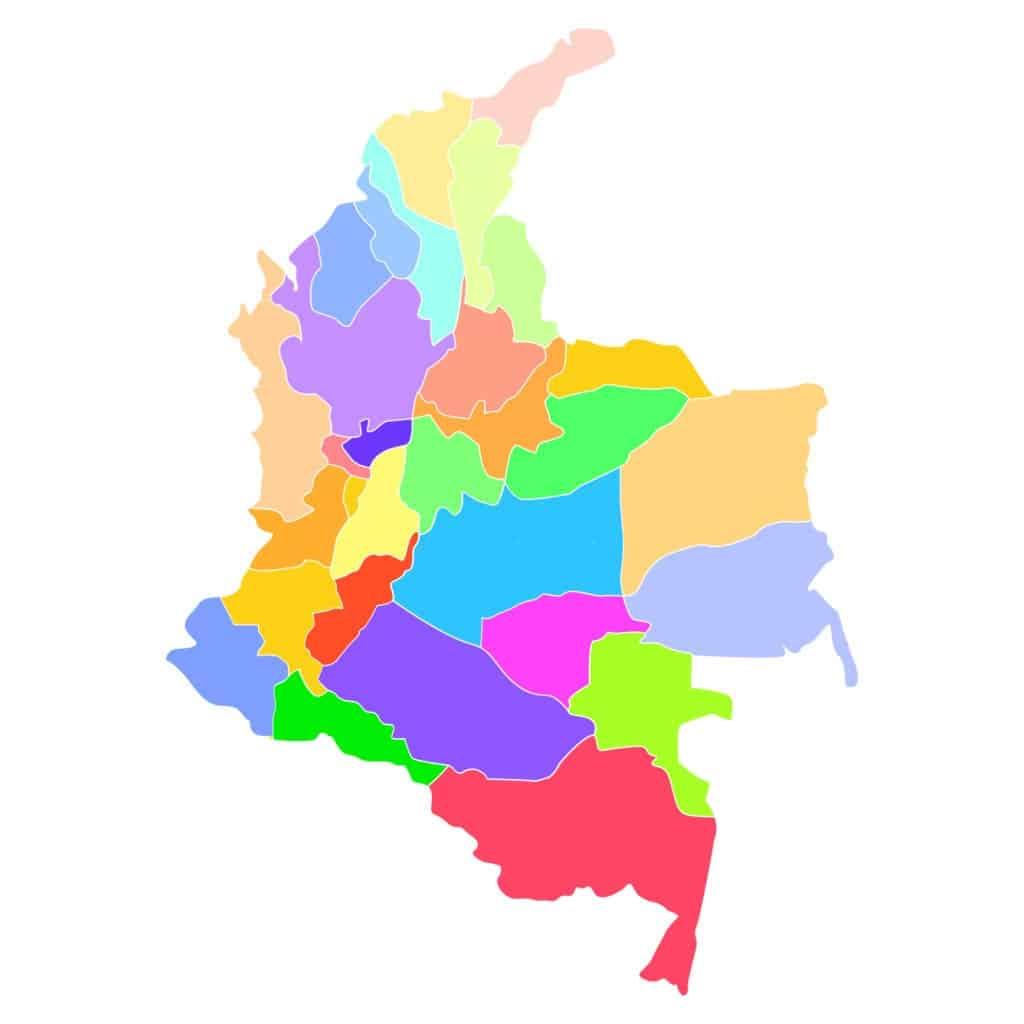 Colombia. Mapa sin nombres