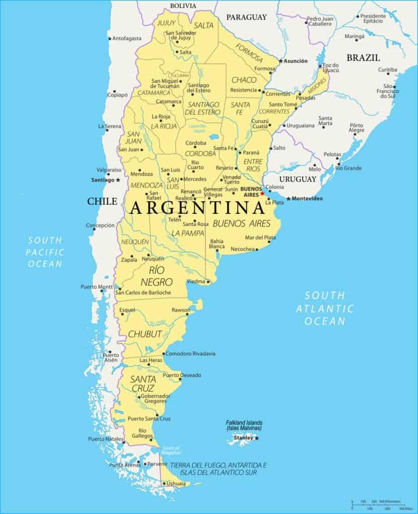 Argentina En Mapas Mapas Politicos Y Fisicos Para Descargar E Imprimir
