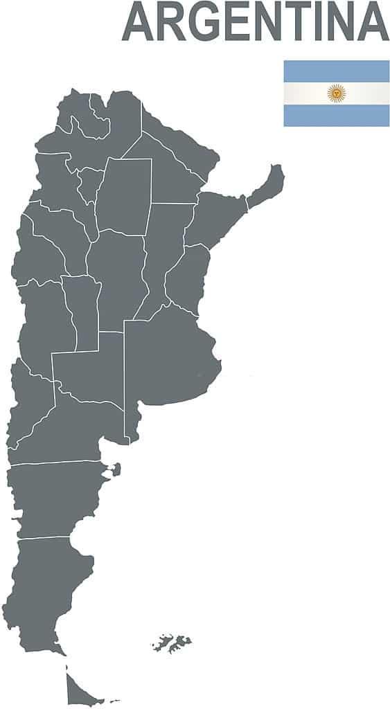 mapa de Argentina sin nombres