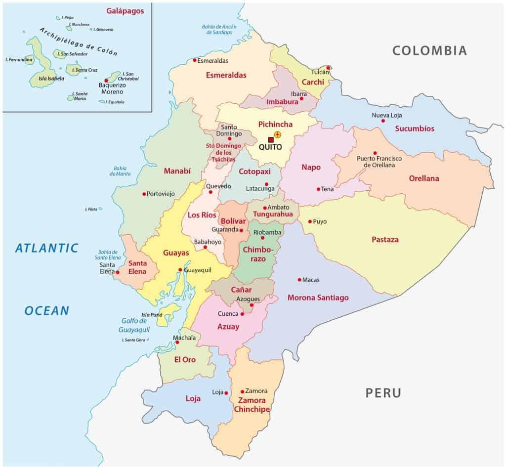 Ecuador Mapa Del Mundo.Mapas De Ecuador Mapas Politicos Fisicos Mudos Para Descargar