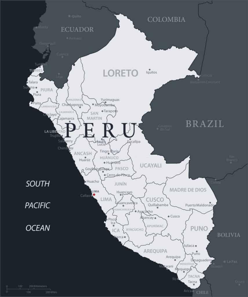 mapa administrativo peruano