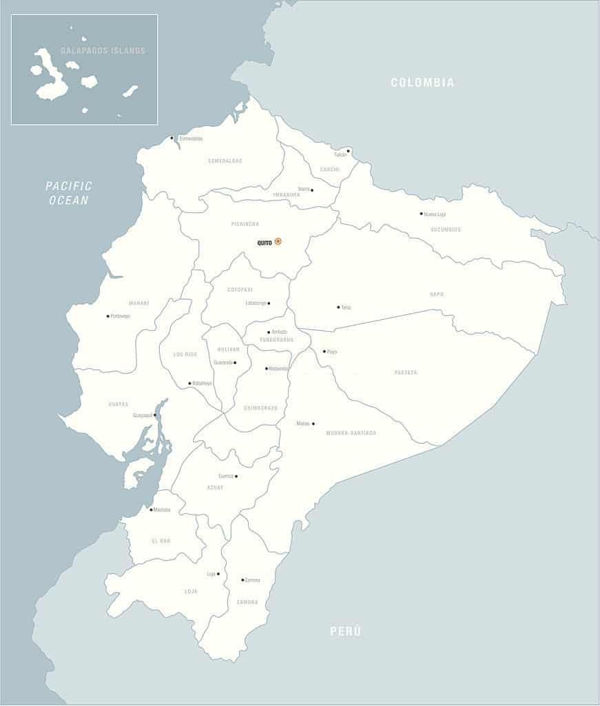 Mapas De Ecuador Mapas Políticos Físicos Mudos Para Descargar