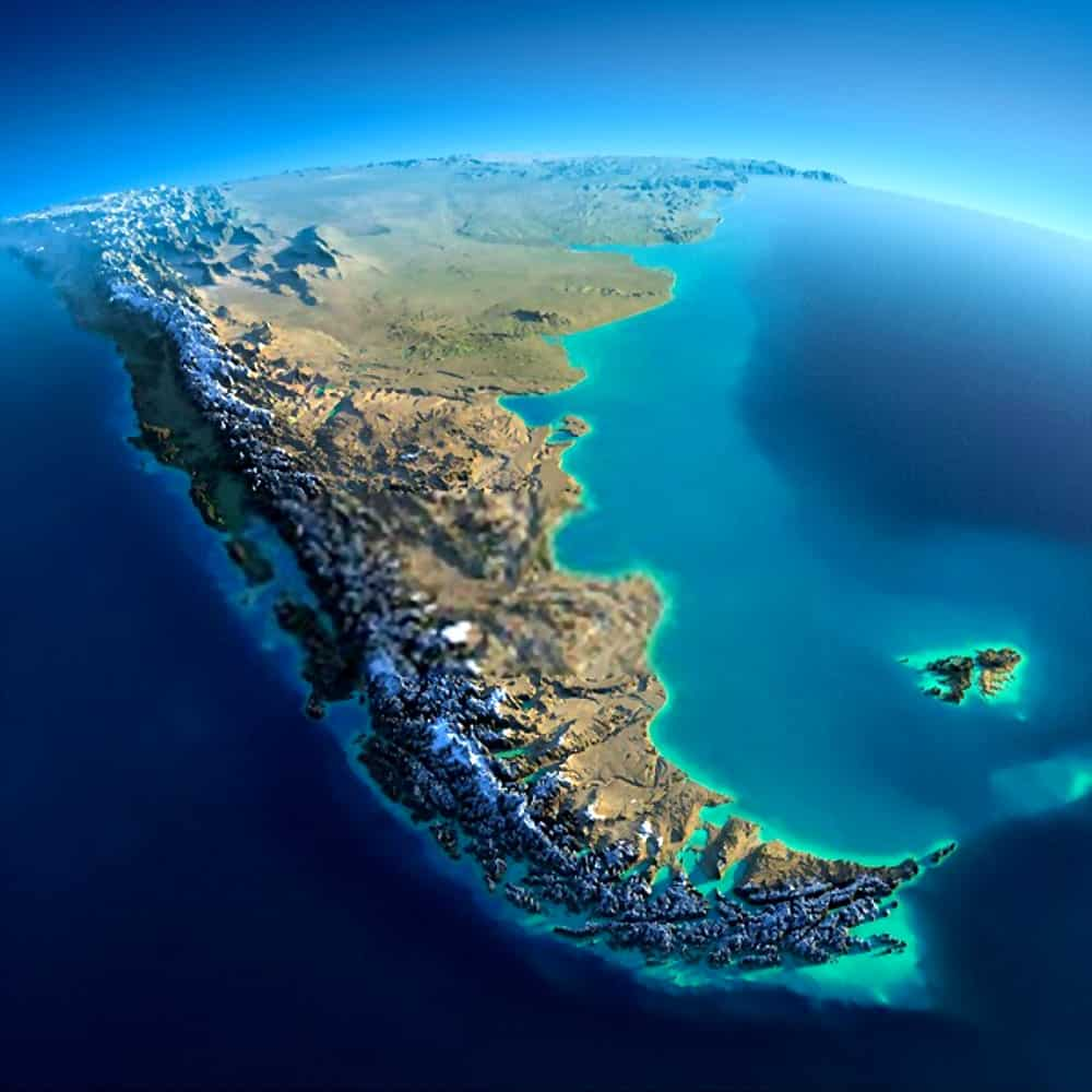 relieve topográfico de Argentina