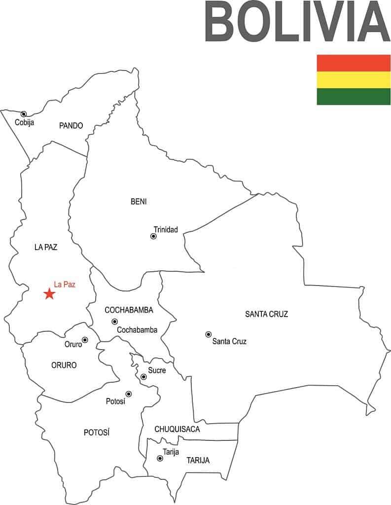 Provincias de Bolivia con sus capitales