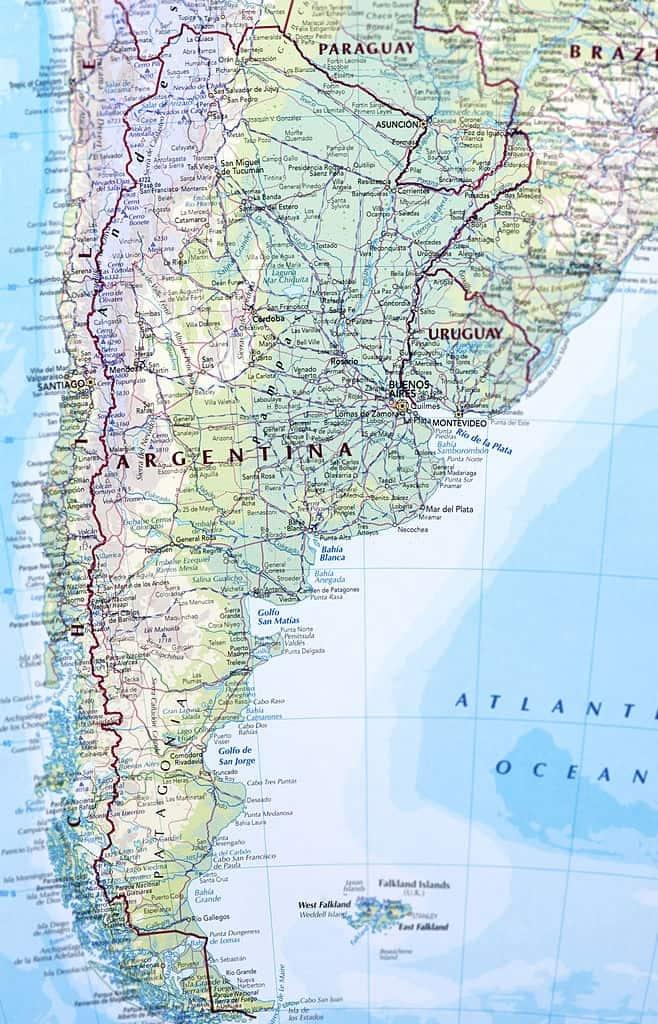 mapa detallada Argentina