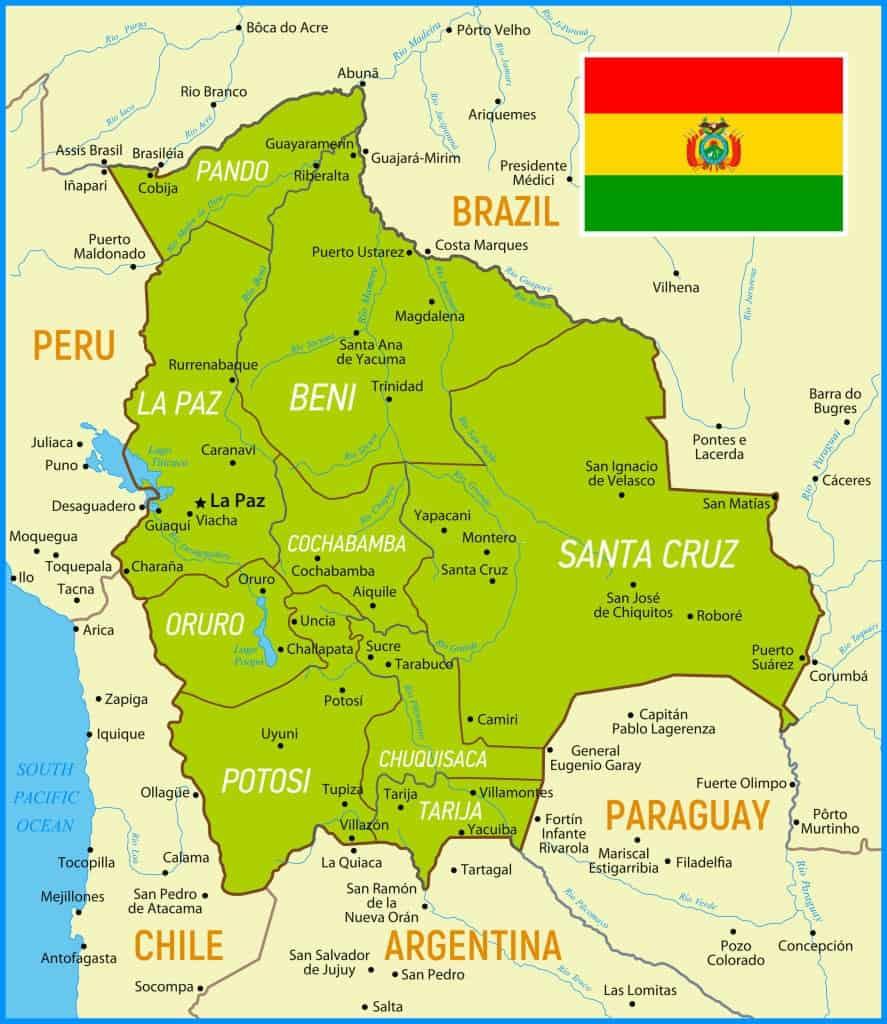 Provincias de Bolivia y sus capitales y ciudades