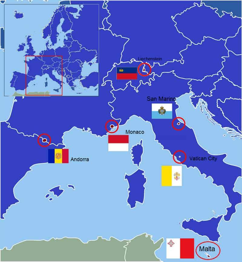 paises más pequeños de Europa