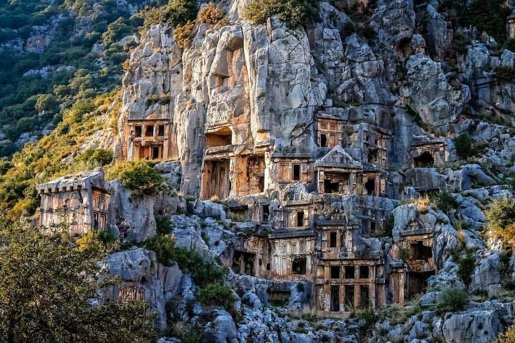 Tumbas en Myra. Turquía.