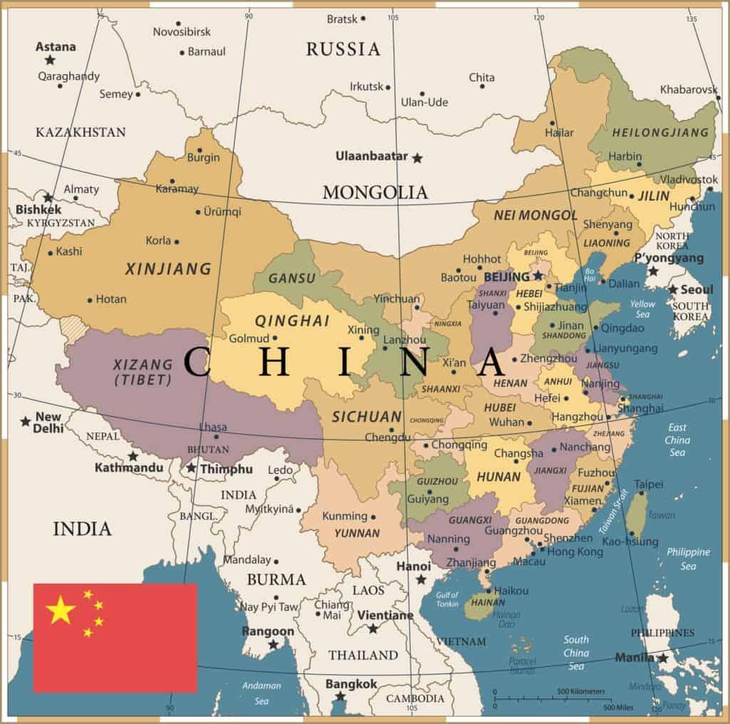 Mapa de China - mapa político