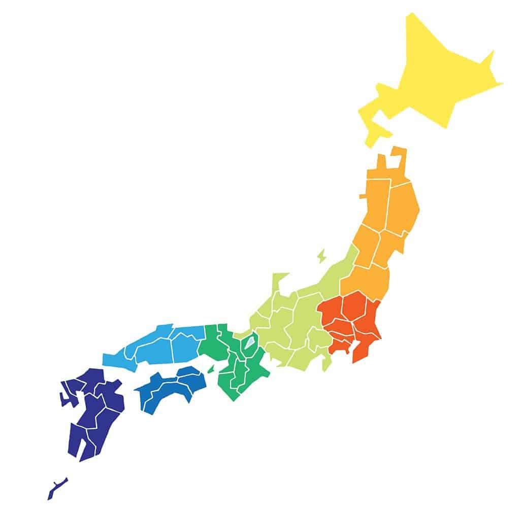 Mapa de prefecturas de Japón